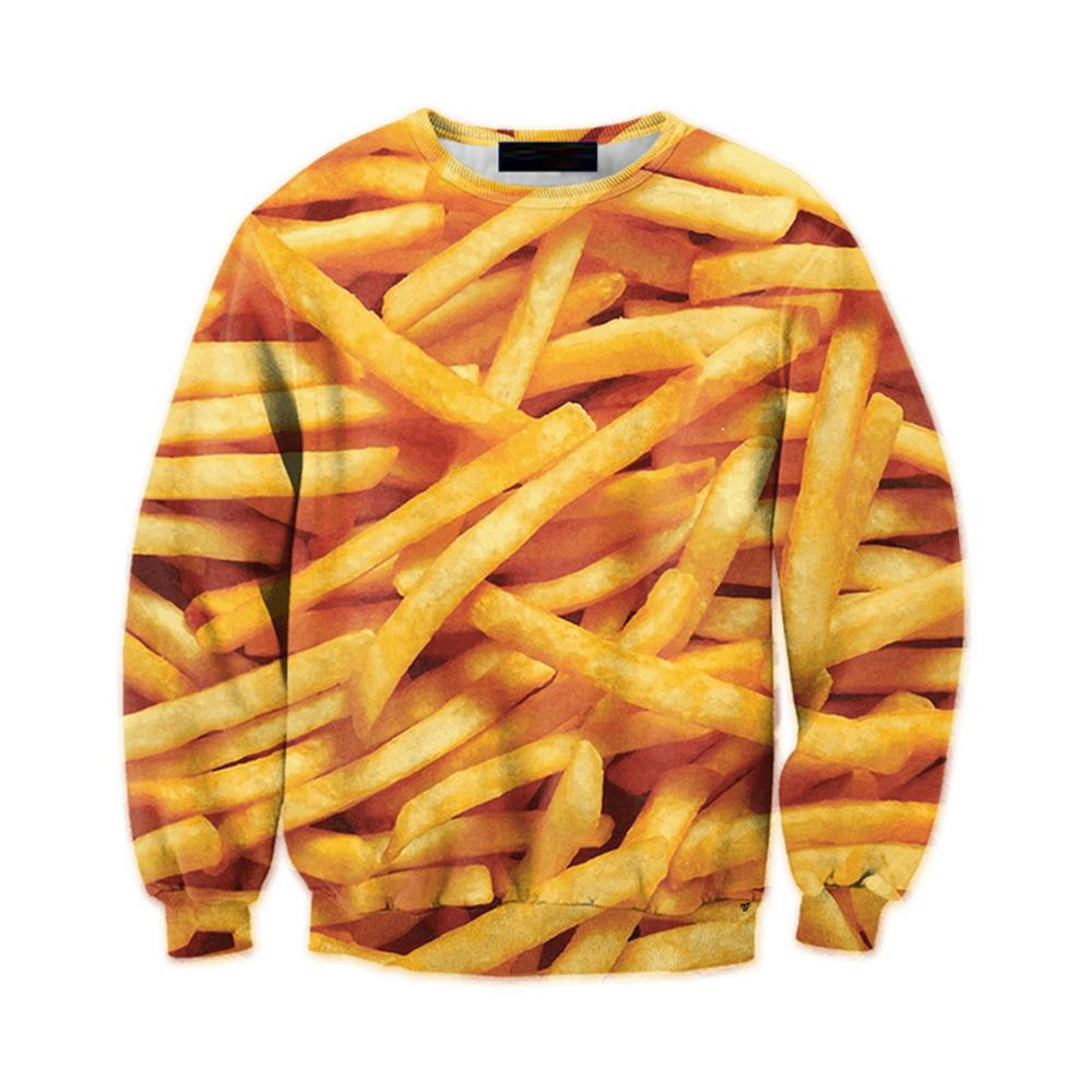 French Fries 3D Pullover Tracksuit Casual Men Funny Print Hoodie Sweatshirt Pluseosegal-eosegal