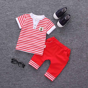 BibiCola baby summer Boys Clothing Sets Baby sport Suit newborn clothes toddler Tracksuit baby boy Gentleman set Infant Outfit-eosegal