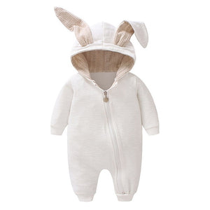 JOYHOY Baby Romper children kids Cute Rabbit Hooded Long Sleeve Jumpsuit Baby Product ,Cotton Newborn Baby Rompers-eosegal