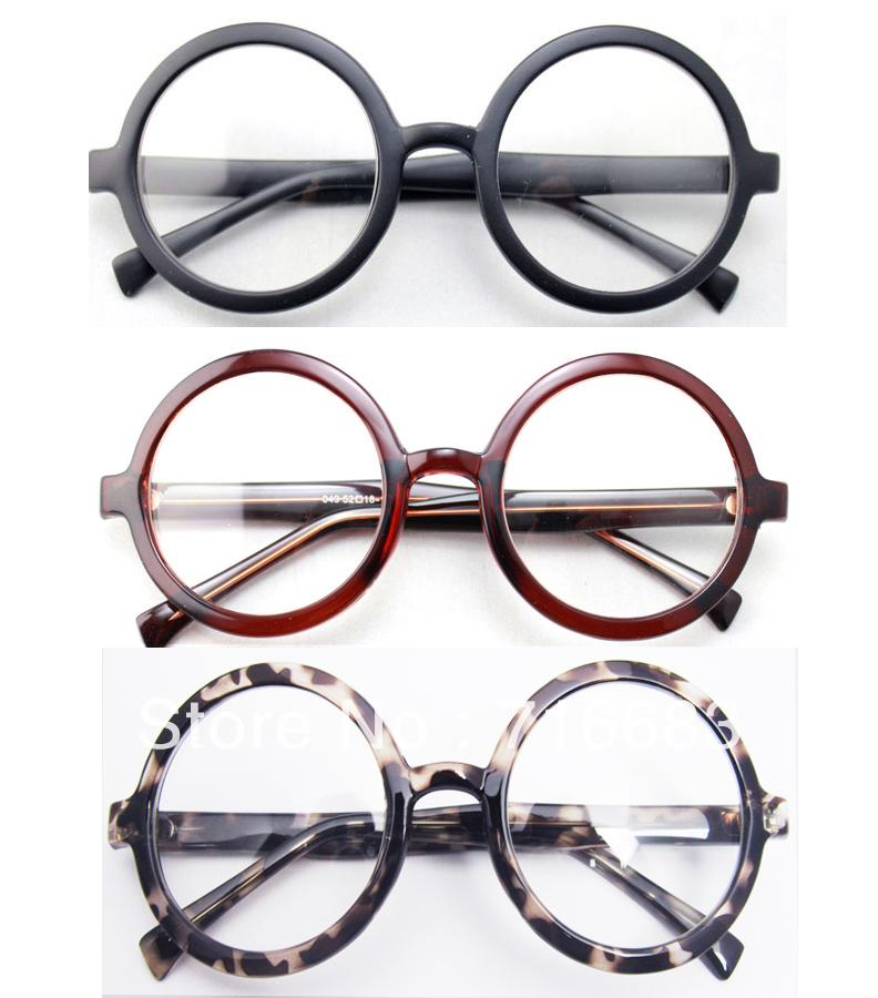 Large Size Oversized Retro Vintage Harry Potter Round Eyeglass Frame Black Browneosegal-eosegal