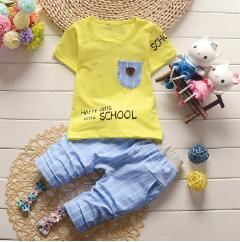 BibiCola Baby Boy Clothing Set Summer Bebe Tracksuit Clothes Toddler Sport Top T-shirt+Pants Outfits Infant Boys Clothing-eosegal