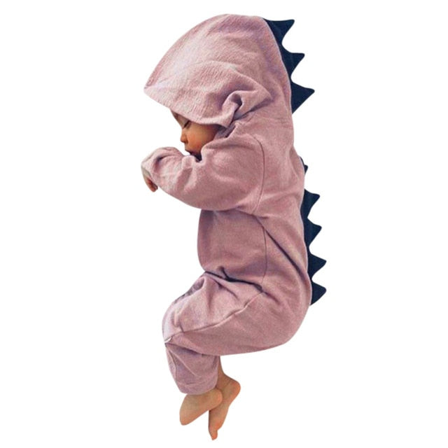 Cotton Summer Baby Romper Dinosaur bay boy girl clothes toddler Hooded newborn baby Romper Jumpsuit Outfits jumpsuit outfits-eosegal