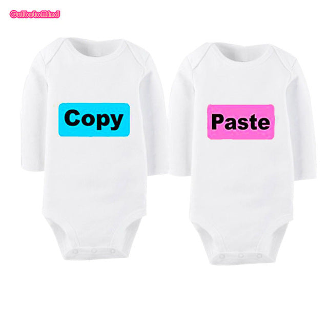 Culbutomind New born Twin Clothes Boy and Girls SummerTwins Infant Long Sleeve Cotton One Piece Body Suit Ctrl C Ctrl VCopyPaste-eosegal