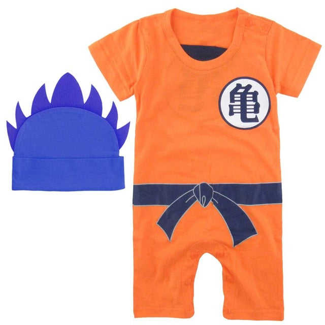 Dragon Ball Baby Rompers Newborn Baby Boys Clothes SON GOKU Toddler Jumpsuit Beb