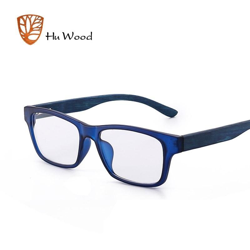 Natural Bamboo Plain Glass For Men Zebra Wood Clear Rectangle Lenseseosegal-eosegal
