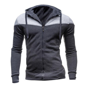 2018 Autumn Cotton Sweatshirt Men Hoodies Zipper Cardigan Sportswear Slim Fiteosegal-eosegal