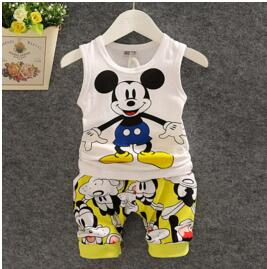 BibiCola Summer Baby boys Clothing Set Cartoon boys T-shirt+shorts 2 pcs clothes Set Baby Boys Clothes Sport Suit Tracksuit Set-eosegal