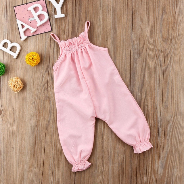 2018 Brand New Cute Toddler Infant Newborn Baby Girls Clothes Strap Romper Jumpsuit Playsuit Overall Sleeveless Summer Sunsuit-eosegal
