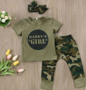 Baby Girls Boys Clothes Set 2018 New Summer Newborn Baby Girl Clothing Short Sleeve T Shirt Pant Toddler Camouflage Outfits Set-eosegal