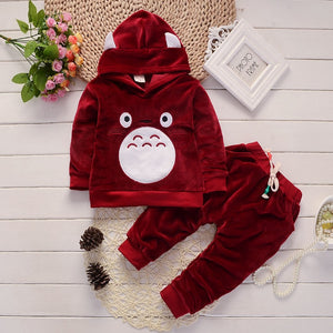 Baby Boy Clothes Spring Autumn elvet Long Sleeved Hooded Hoodies + Pants Children's Outfits Kids Bebes Jogging Suits Tracksuits-eosegal