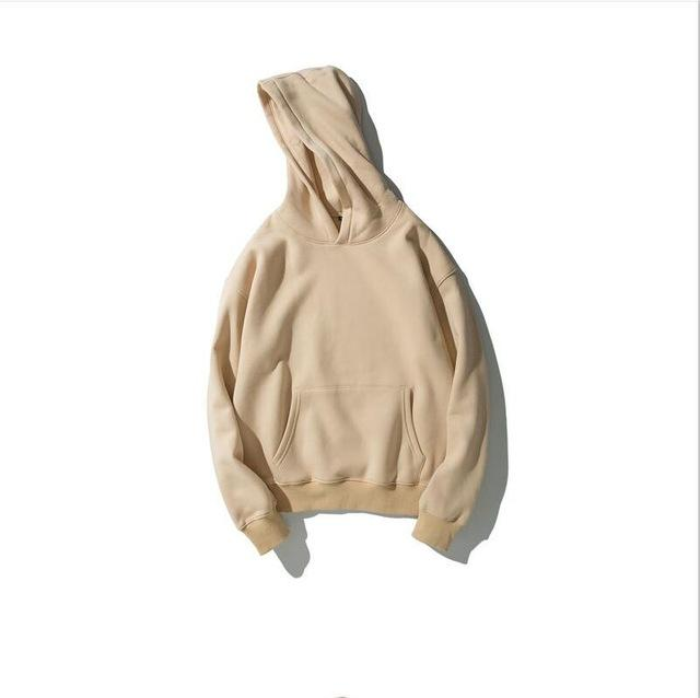 Winter Fleece Hip Hop vetement Hoodie Kanye West Sweatshirt swag solid pullovereosegal-eosegal