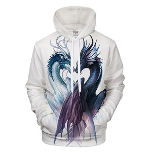 Yin and Yang Dragon by JojoesArt Hoodies 3D Men Women Sweatshirts Brandeosegal-eosegal