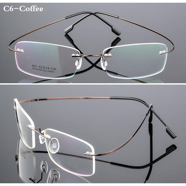 Spectacle Frame Rimless Ultra-light Eyeglasses Women Men Computer Optical Glasses For Maleeosegal-eosegal