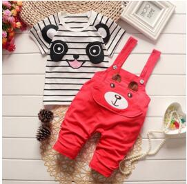 BibiCola baby Summer boy Clothing Sets kids Boys clothes Sets toddle sport suits Kids tops +Bib Pants new born baby clothes set-eosegal