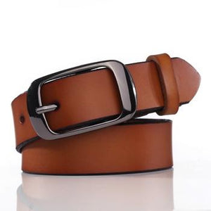 2018 100% Cow Genuine Leather Belts for Women Strap Casual Women Brief Leather Belt Ladies Solid Women's Strap Belt For Jeans-eosegal