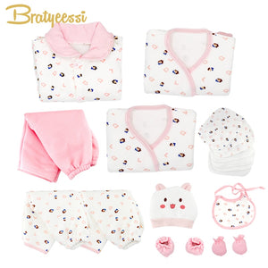 19 Pcs/Set Cotton Newborn Baby Girl Clothes Winter Autumn Baby Boy Clothing Set Cartoon Print New Born Gift-eosegal