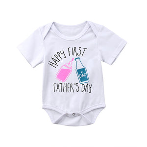 Father's Day Newborn Baby Boys Girls Summer Romper Jumpsuit Outfits Clothes Baby Clothing-eosegal