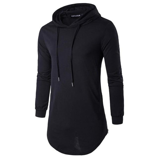 Spring Autumn New Men Sweatshirt Long Sleeve Mens Casual Slim Hooded Pullovereosegal-eosegal