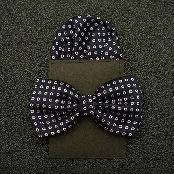 HOOYI 2018 Dot Bow Tie Set Paper towel Bowtie Pretied Pocket squareeosegal-eosegal