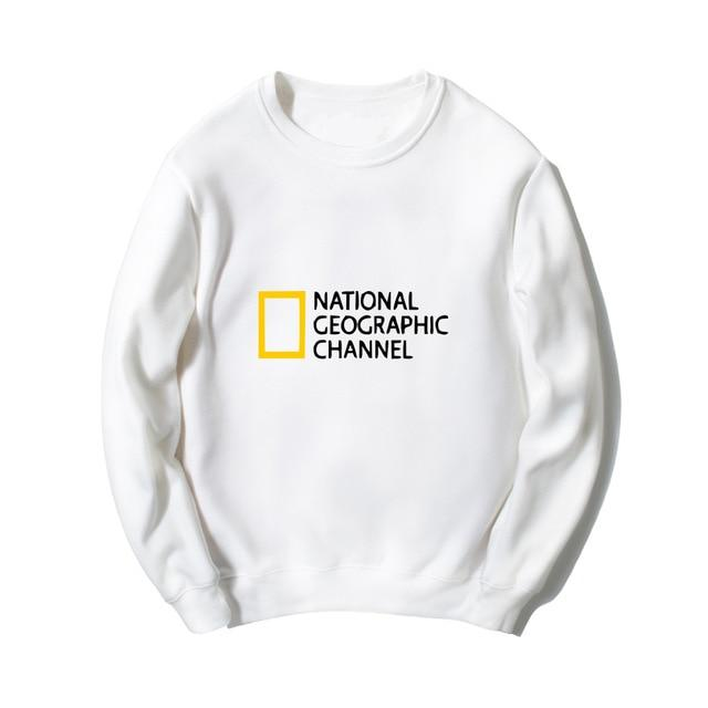 Printed NATIONAL GEOGRAPHIC CHANNEL sweatshirts hip hip streetwear women men comfortable jerseyeosegal-eosegal