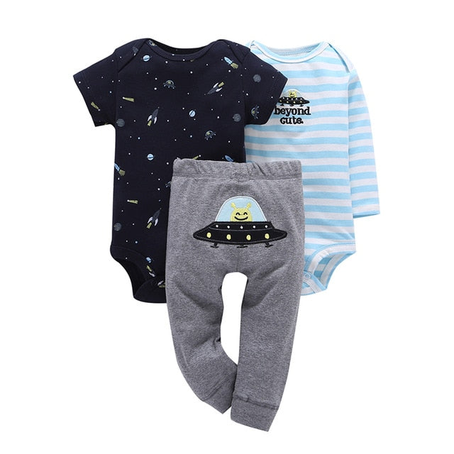 Children brand Body Suits 3PCS Infant Body Cute Cotton Fleece Clothing Baby Boy Girl Bodysuits 2018 New Arrival free shippin-eosegal