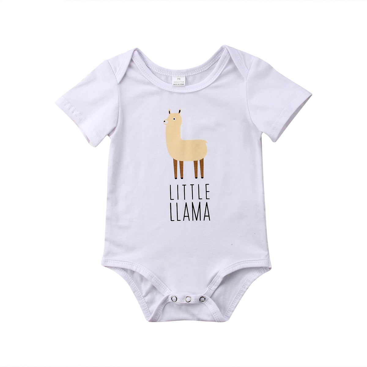 2018 Newborn Infant Baby Boys Girls Cotton Bodysuit Short Sleeves Jumpsuit Llama Outfits Casual Summer White Clothes-eosegal