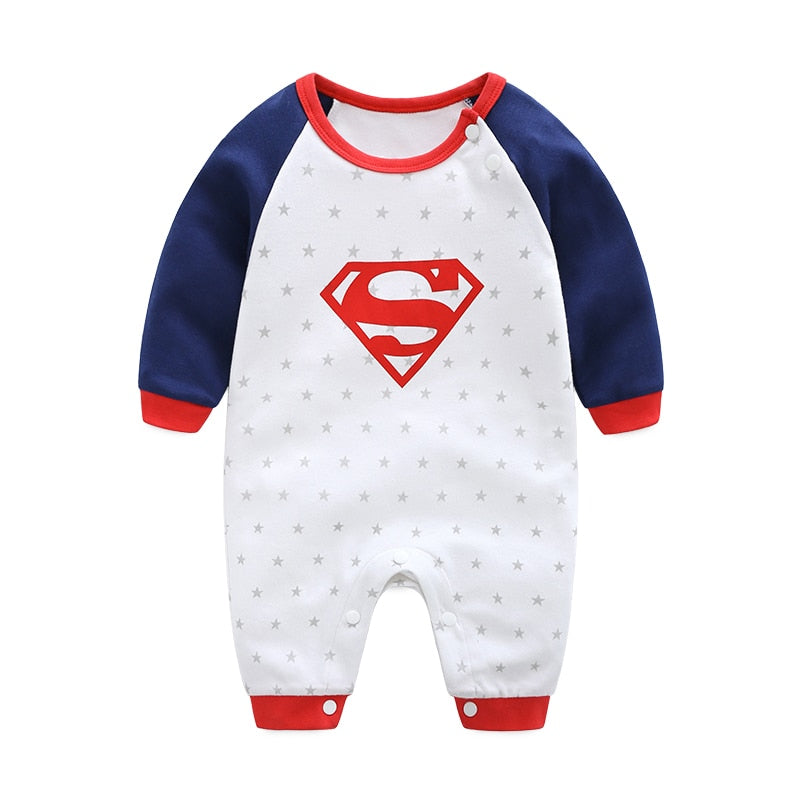 2018 New Fashion Cartoon Cotton Kids Boy Clothes Jumpsuit Batman Baby Boy Romper Superman Baby Gilr Romper Baby Costume Clothing-eosegal