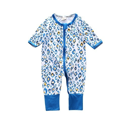 Newborn Baby Boy Clothes Infant Romper Long Sleeve Flower Print Baby Girl Rompers Jumpsuit Pajamas Baby Clothing BR107-eosegal