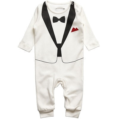 Bibihou 2018 New Newborn Baby Rompers Clothing Children Boys Clothes Tie Gentleman Bow Leisure Toddler One-pieces Jumpsuit Bebe-eosegal