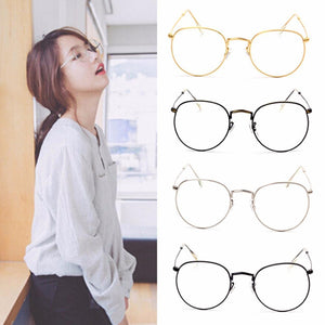 Vintage Men Women Eyeglass Frame Glasses Round Spectacles Clear Lens Optical Unisexeosegal-eosegal