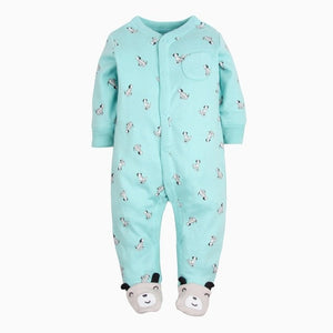 2018 Newborn baby clothes infants baby pajamas overalls jumpsuits bebes climb clothing cotton toddler boys sleep wear bodysuit-eosegal