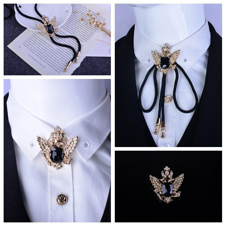 Hot Wholesale Retail Bolo Tie Antique Gold Russian Double Headed Empire Eagleeosegal-eosegal