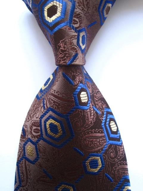 New Classic Paisley Dot Check Floral Mix Color Tie JACQUARD WOVEN 100%eosegal-eosegal