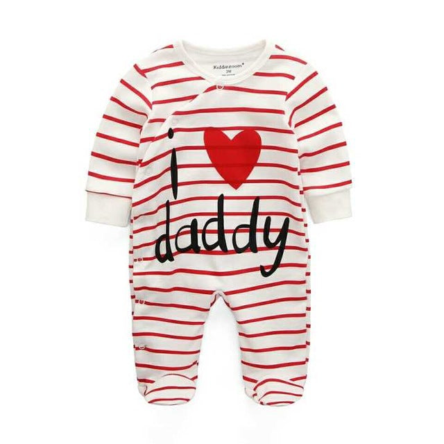 Baby Rompers Body suits Cover Newborn boys girls one-pieces Clothes stripe printed baby winter sleepsuits ropa bebe clothing-eosegal