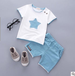 Smgslib Baby Boy Clothes summer children clothing Cartoon 2018 New Kids Cotton Cute Stars Sets baby boy outfit costumes baby-eosegal