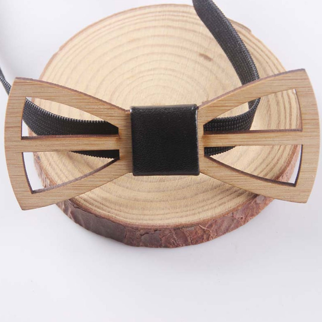 Charming Unique Wooden Bow Tie Men Geometric Scissors Laser Cutout Jewelry Accessoryeosegal-eosegal