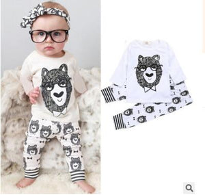 Retail 2018 baby clothes infant clothes baby clothing sets boy Cotton little monsters Sleeve Length 2pcs baby boy clothes-eosegal