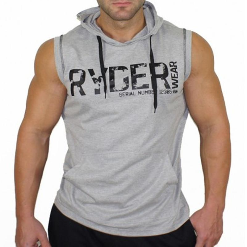 Brand Men Cotton Hoodie Sweatshirts fitness clothes bodybuilding tank top men Sleevelesseosegal-eosegal