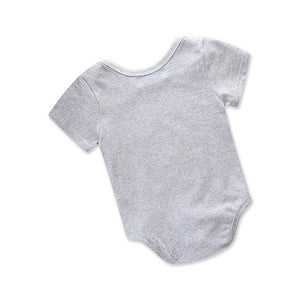 2018 Brand New Summer Newborn Toddler Infant Baby Girl Boy Cotton Bodysuit Jumpsuit Solid Playsuit Shortsleeve Clothes Wholesale-eosegal