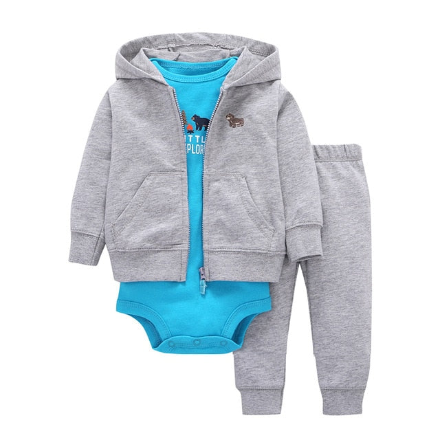 2018 Sale Promotion Coat+pants+baby Romper Autumn Winter Sets 6~24 Months Baby Boys Gilrs Clothes 100% Cotton Bodysuit Infant-eosegal