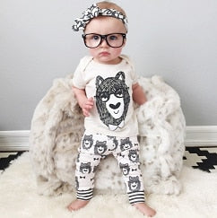 Retail 2016 baby clothes infant clothes baby clothing sets boy Cotton little monsters long sleeve 2pcs baby boy clothes-eosegal