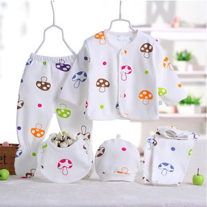 5pcs/set Newborn baby girl clothes 100% cotton infant clothing set Brand baby boy clothes Cotton newborn baby Clothes-eosegal