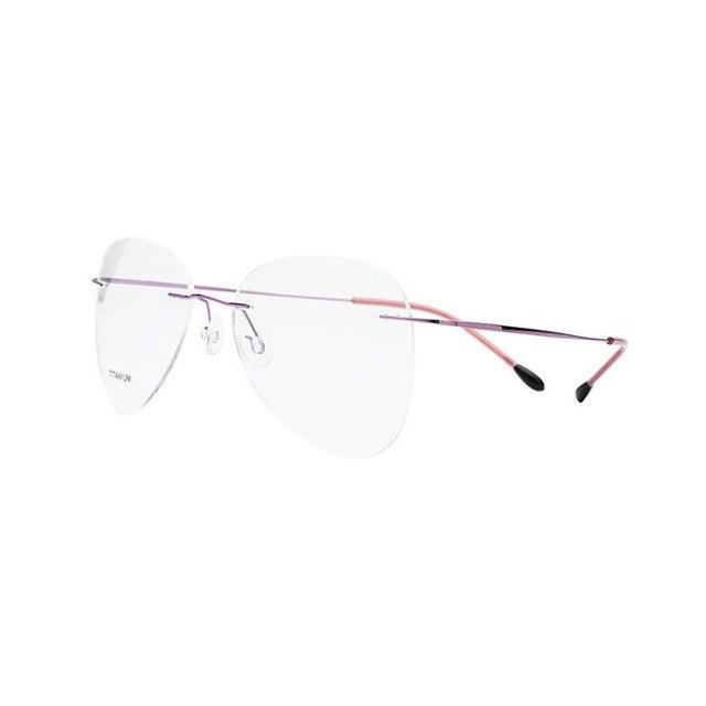Titanium Rimless Fashion Designer Eyeglasses Optical Glasses Frame Men and Women Eyeweareosegal-eosegal