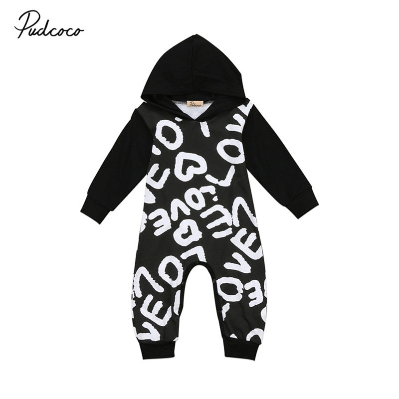 High Quality Newborn Infant Baby Boys Girls Clothes Long Sleeve Hooded Romper Jumpsuit Outfits Baby Clothing 0 to 18M-eosegal