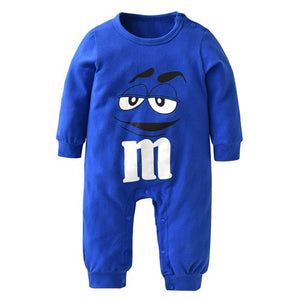 New 2018 Autumn Newborn Baby Rompers Long Sleeves Blue and Red Cartoon Printing Infant Jumpsuit Toddler Baby Boy Girl Clothes-eosegal