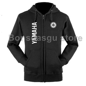 Yamaha Logo zipper Hoodie 100% Sweatshirt for women and meneosegal-eosegal