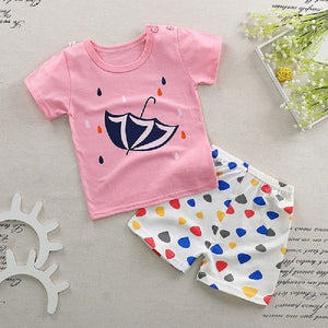 2018 new baby girls and boys clothes quality cotton kids bodysuit summer short sleeve children clothing sets cartoon body suit-eosegal