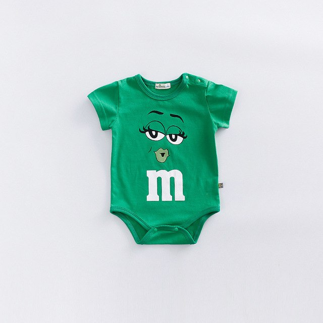Five Color Summer and Spring Baby Romper Smile Cartoon Cotton Short Sleeve Soft Newborn Girl Boys photo Prop Jumpsuit 0-18 M-eosegal