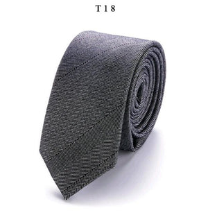 Brand Gravata New Cravate Solid Slim Men's Wedding Necktie Mens Cottoneosegal-eosegal