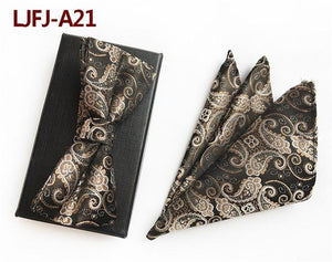 New Brown God Paisley Print Men's Necktie Gift Mens Silk Tieseosegal-eosegal